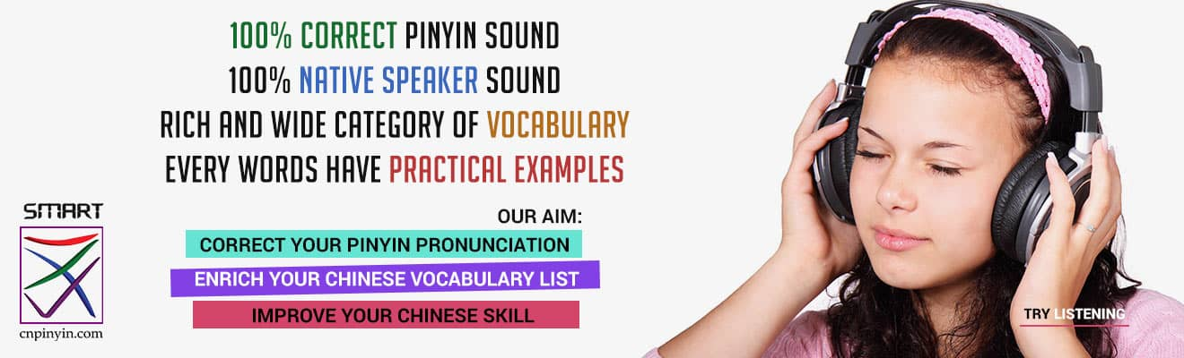Listening test at Smart Chinese Pinyin Teacher (cnpinyin.com)